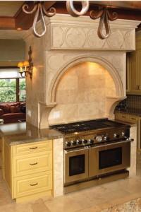 Gothic Limestone Range Hood