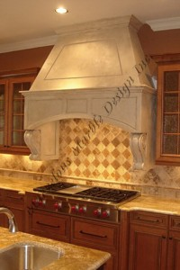 french limestone range hood