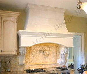 natural stone kitchen hood